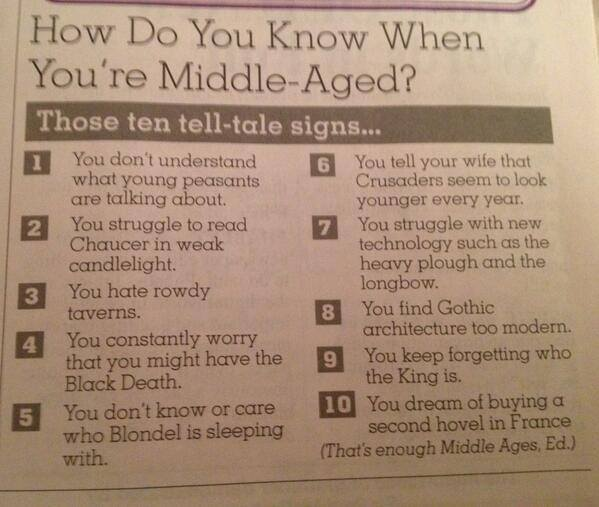 How Do You Know When You're Middle-Aged?